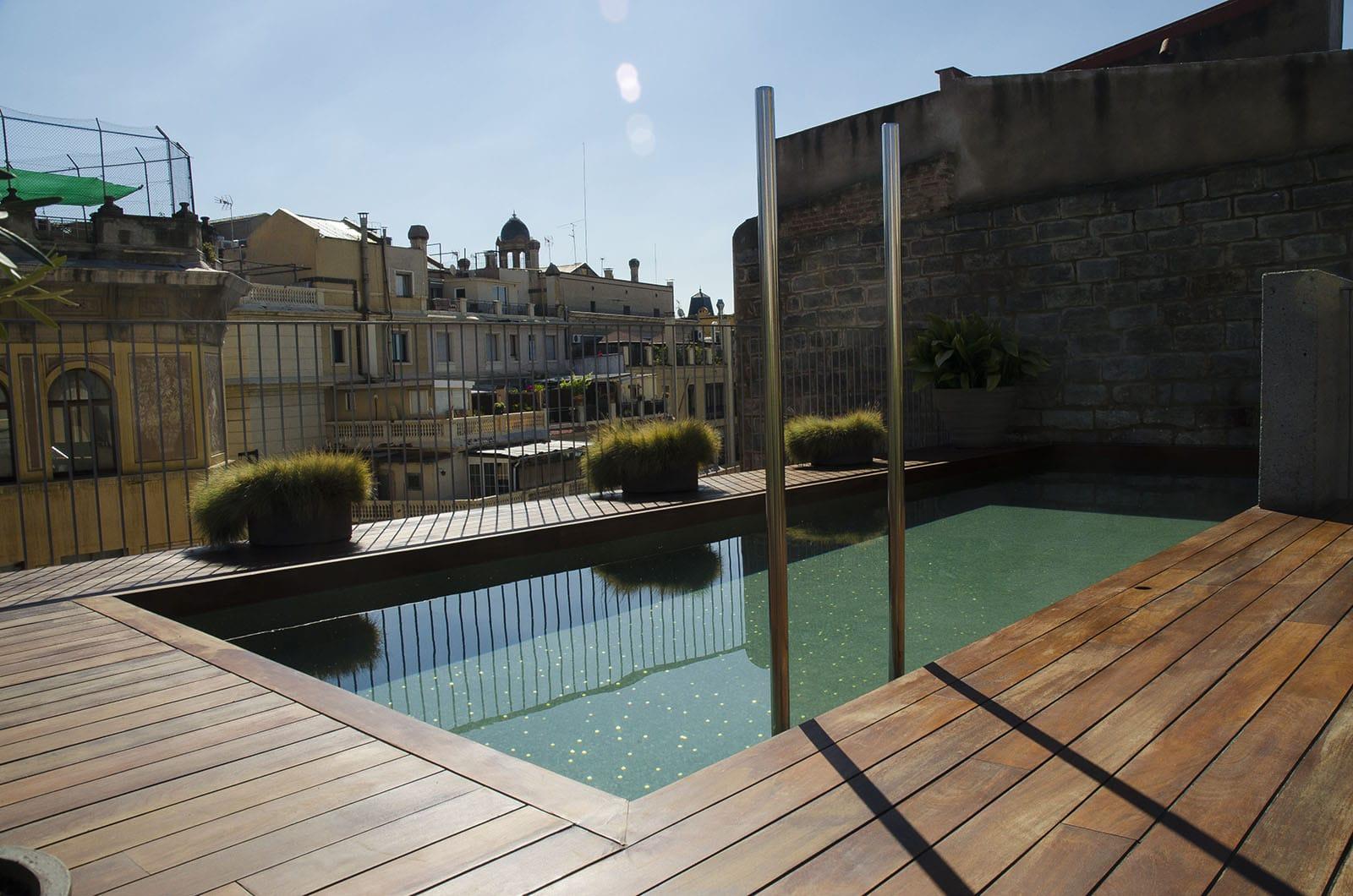 Terrasse h tel de luxe barcelone h tels 5 toiles - Barcelone hotel piscine interieure ...