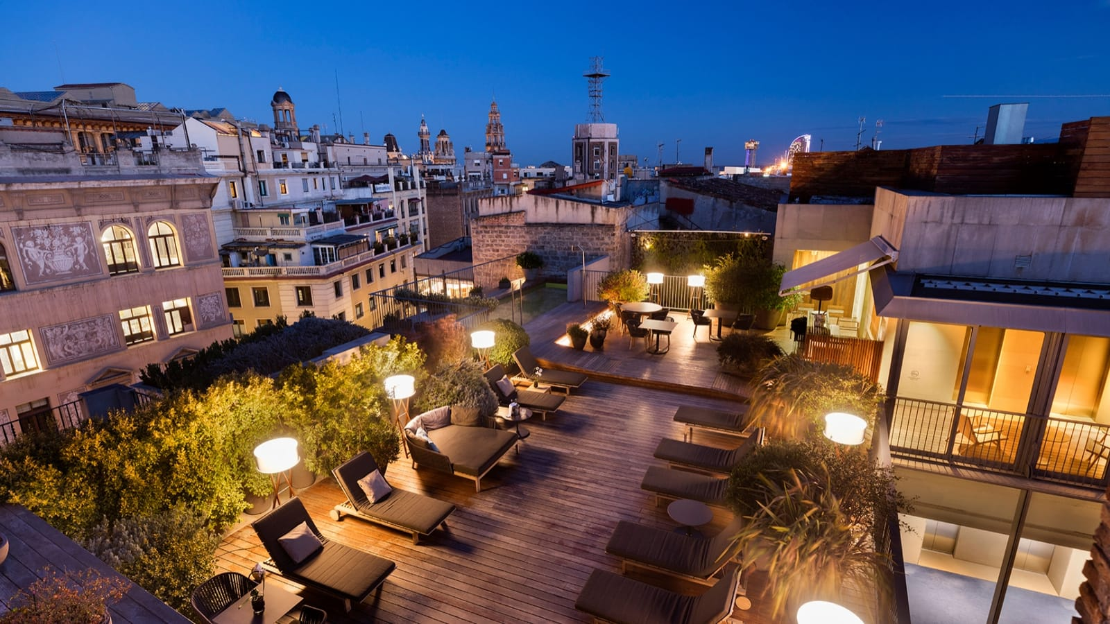 Terrace in the Luxury Hotel Mercer Barcelona
